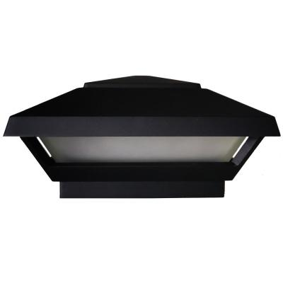 Low Voltage Black Integrated LED 4x4 and 6x6 Deck Post Light