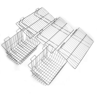 Slatwall Shelf and Basket Kit (5-Piece)