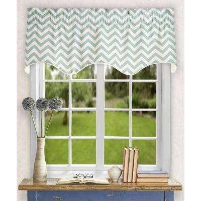 Reston 17 in. L Cotton Lined Scallop Valance in Spa