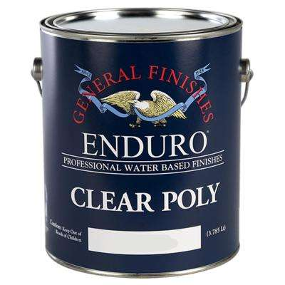 1 gal. Satin Enduro Clear Poly Interior Topcoat