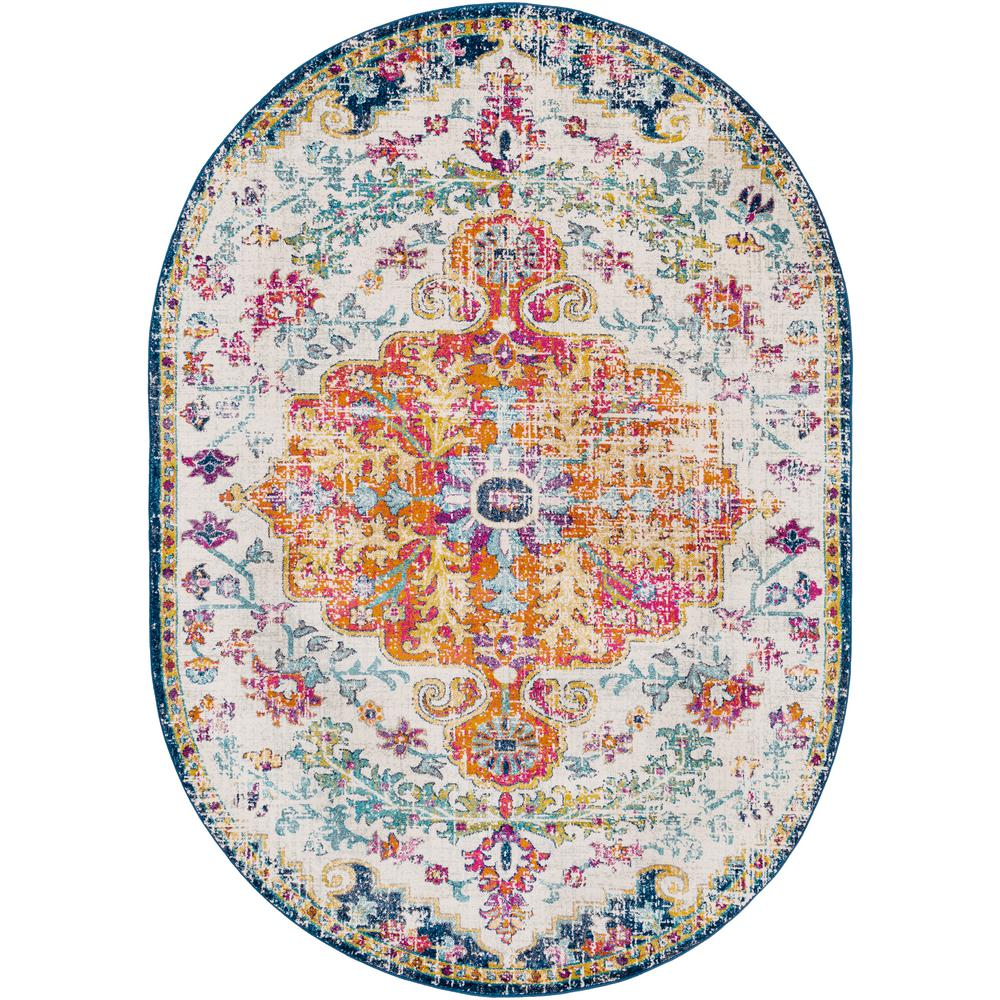 Artistic Weavers Demeter Ivory 6 ft. 7 in. x 9 ft. Oval Area Rug was $320.01 now $160.7 (50.0% off)