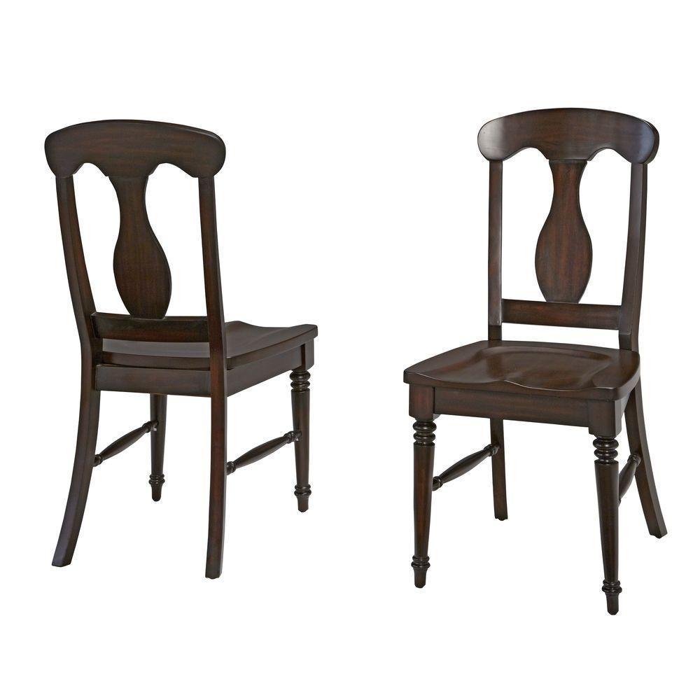 Bermuda Espresso Wood Dining Chair (Set of 2)