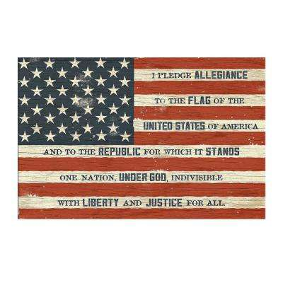 "Simply Inspired ""I Pledge Allegiance"" by Carpentree Printed Canvas Wall Art"
