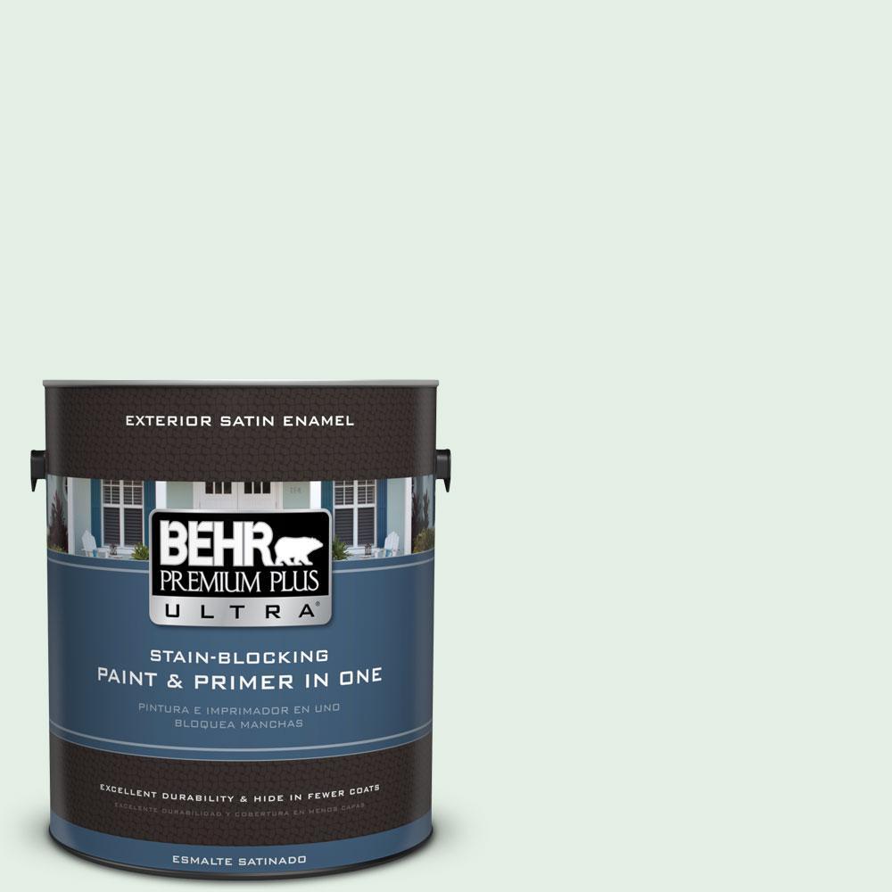 BEHR Premium Plus Ultra 1-gal. #PPL-25 Sign of Spring Satin Enamel Exterior Paint
