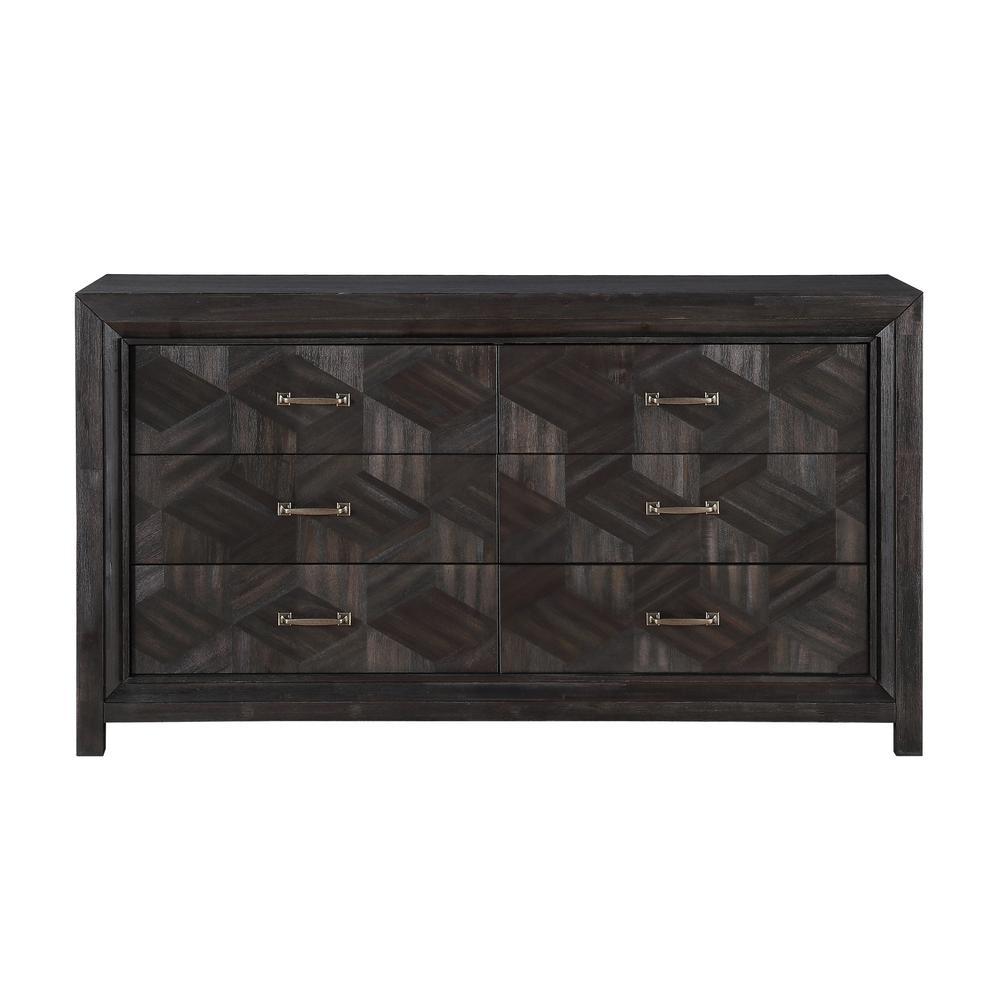 Ripley 6-Drawer Vintage Coffee Dresser 39 in. H x 68 in. W x 18 in. D