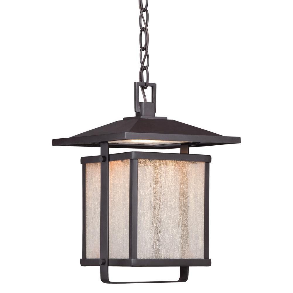 Hillsdale 1-Light Dorian Bronze Integrated LED Hanging Light