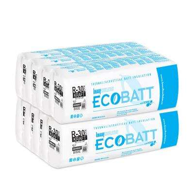 R-30 Kraft-Faced High Density Fiberglass Insulation EcoBatt 8-1/4 in. x 23 in. x 48 in. (8-Bags)