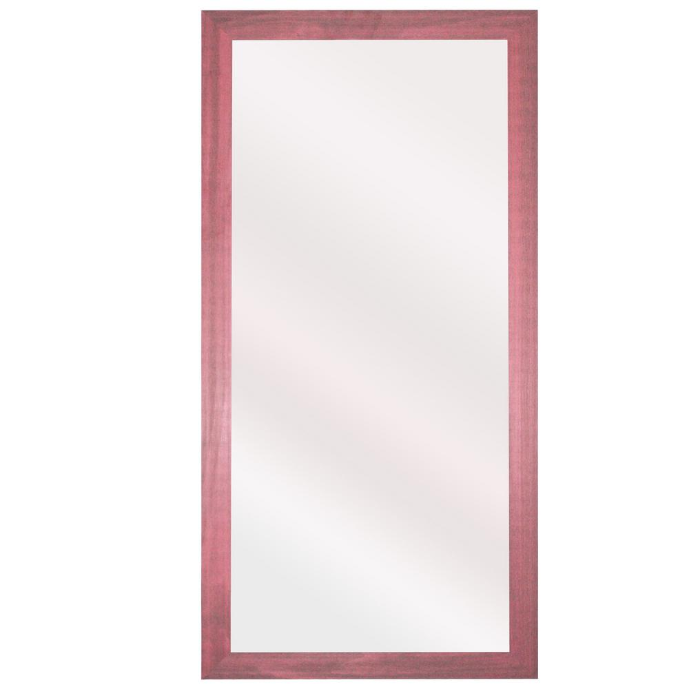 78 in. x 39 in. Vintage Pink Framed Double Vanity Mirror