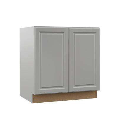 Elgin Assembled 33x34.5x21 in. Full Door Height Bathroom Vanity Base Cabinet in Heron Gray