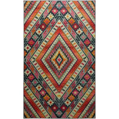 Faye Pink 5 ft. x 8 ft. Tribal Area Rug