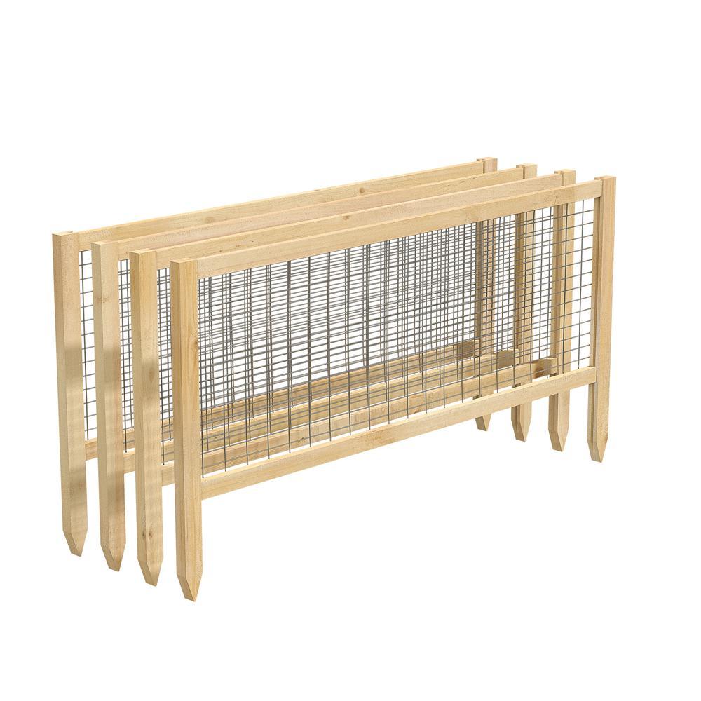 CritterGuard 45 in. L Cedar Garden Fence (4-Pack)