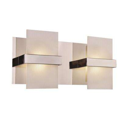 Cathedral 128-Watt Integrated LED Polished Chrome Bath Light