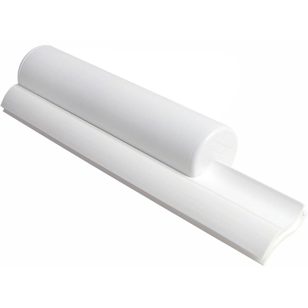 Cleru0027et Classic Dual Bladed Shower Squeegee In White With White Trim