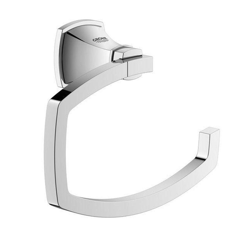 Grandera Single Post Toilet Paper Holder in StarLight Chrome