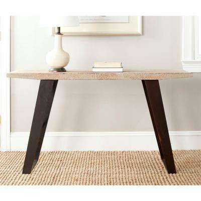 Waldo Natural and Black Brushed Console Table