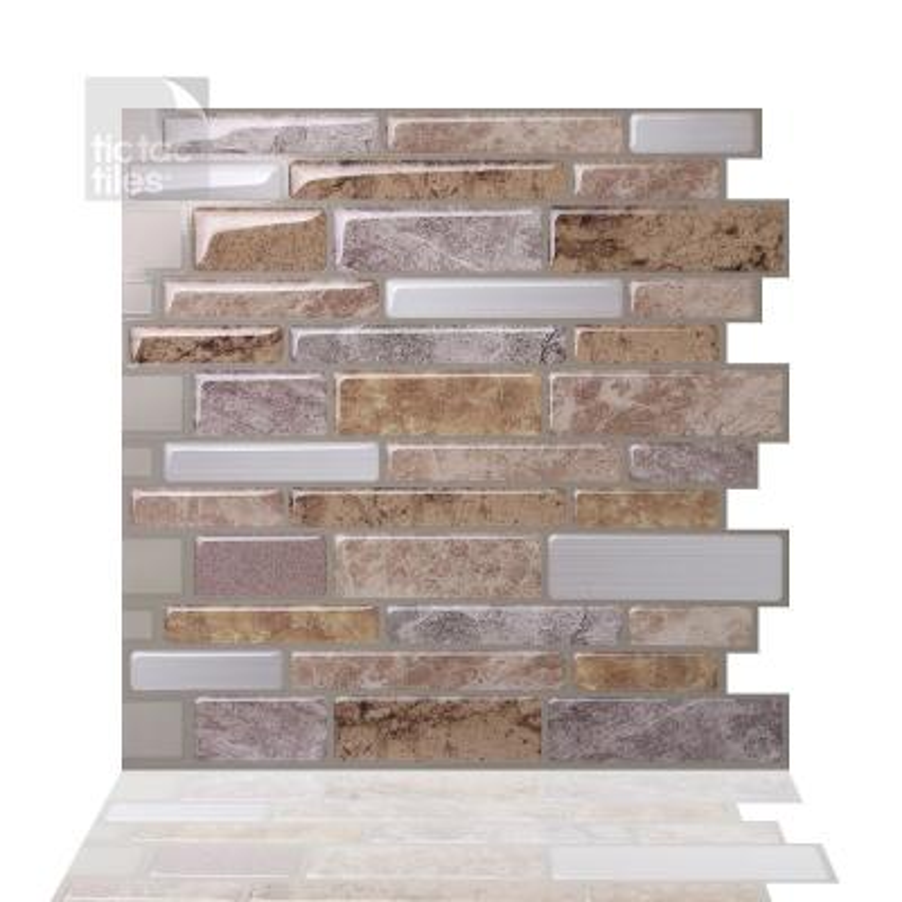 Polito Fresco 10 in. W x 10 in. H Peel and Stick Self-Adhesive Decorative Mosaic Wall Tile Backsplash (5-Tiles)