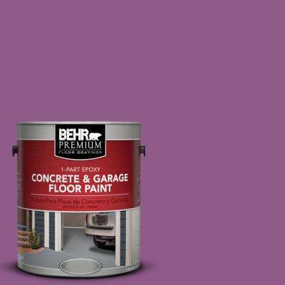 1 gal. #OSHA-4 Osha Safety Purple 1-Part Epoxy Concrete and Garage Floor Paint
