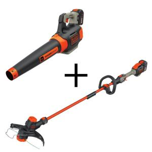 Black & Decker 100 MPH 400 CFM 60-Volt MAX Lithium-Ion Cordless Handheld Leaf Blower with Bonus 2-in-1... by BLACK+DECKER