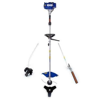 26 cc 2-Cycle Gas Full Crank 4-in-1 Multi-Function String Trimmer with Edger Attachment