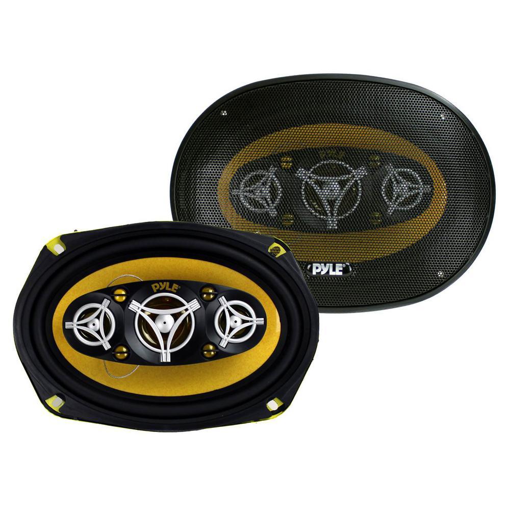 6 in. x 9 in. 8-Way 500-Watt Car Audio Stereo Coaxial Speakers