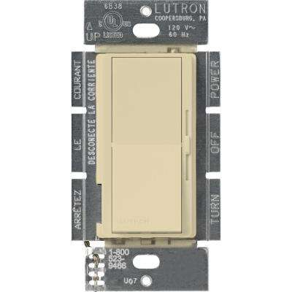 Diva 450-Watt Single-Pole Magnetic Low-Voltage Dimmer, Ivory