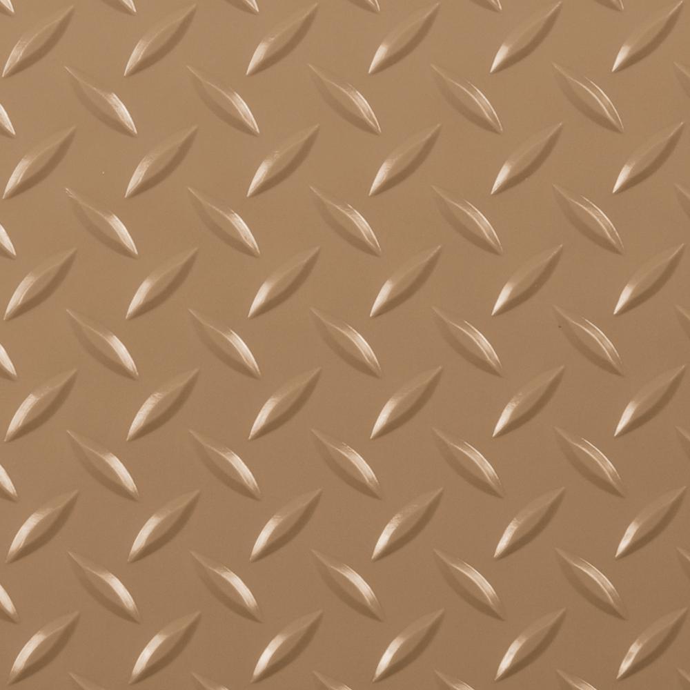 G-Floor Diamond Tread 7.5 ft. x 17 ft. Sandstone Commercial Grade Vinyl Garage Flooring Cover and Protector