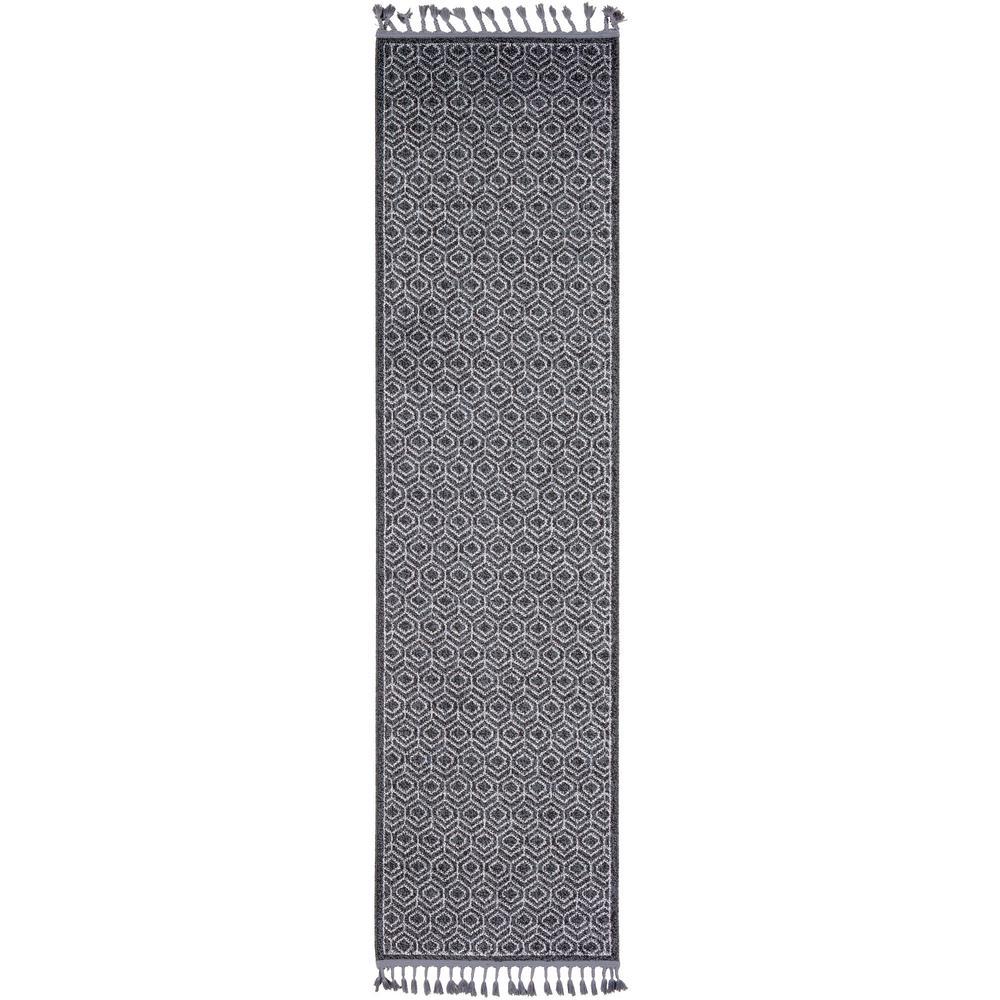 Artistic Weavers Reinhardt Charcoal 2 Ft 7 In X 10 Geometric Runner 3
