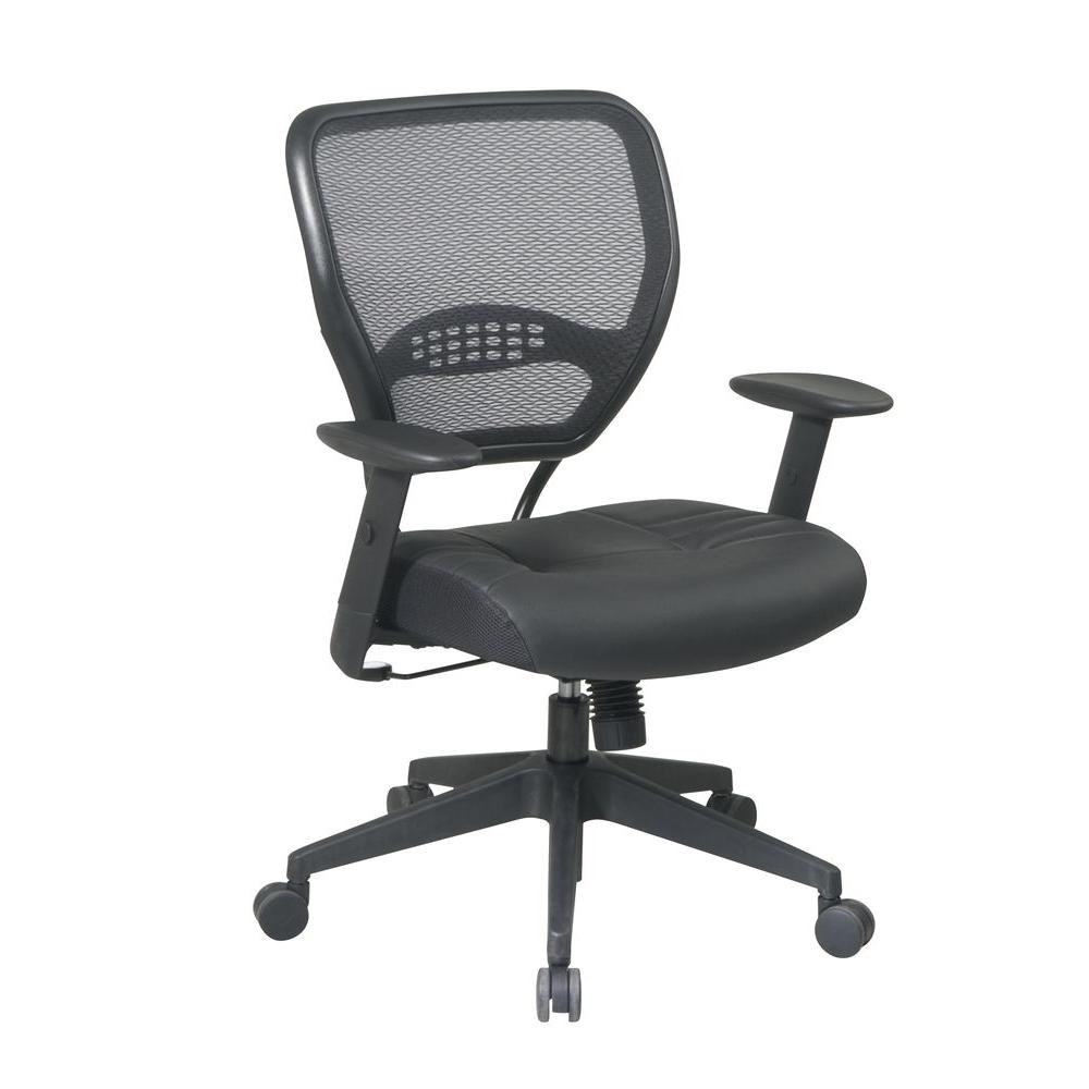 Office Star Black Leather Managers Chair-DISCONTINUED