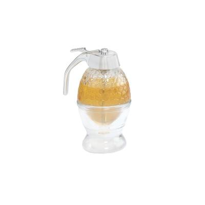 Clear Glass Honey Syrup Dispensers