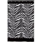 Creative Bath Zebra 72 in. x 72 in. Black and White Animal-Themed Shower Curtain