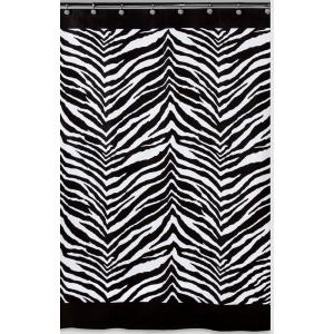 black and white shower curtain set. Black and White Animal Themed Shower Curtain Creative Bath Zebra 72 in  Set S1050 3