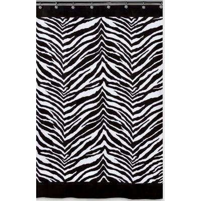 Black And White Animal Themed Shower Curtain