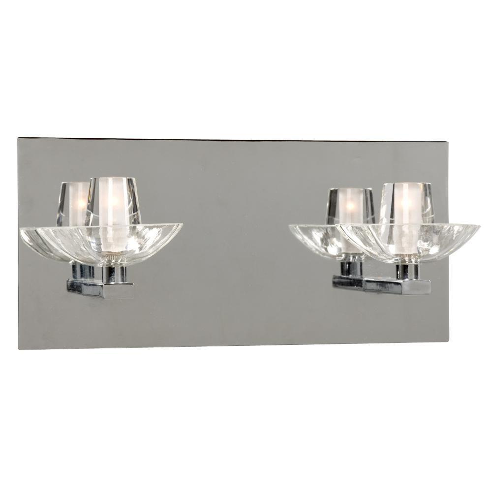 Filament Design Vanity Lighting : Filament Design Negron 2-Light Chrome Halogen Bath Vanity Light-CLI-XY5223501 - The Home Depot
