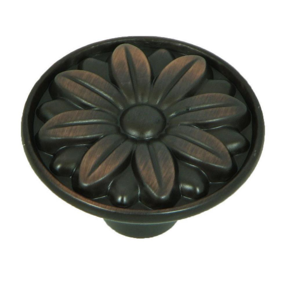 Mayflower 1-1/4 in. Oil Rubbed Bronze Round Cabinet Knob (10-Pack)