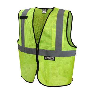 Large Green Reflective Polyester Mesh Economy Vest