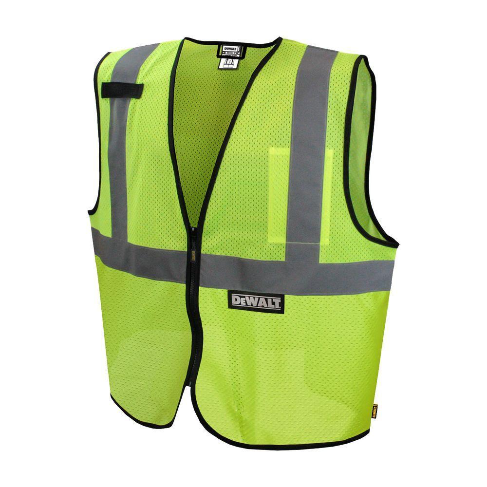 Medium Green Reflective Polyester Mesh Economy Vest