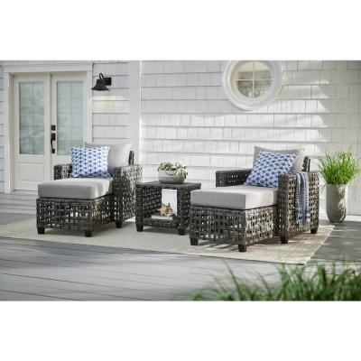 Briar Ridge Square Wicker Outdoor Patio Side Table