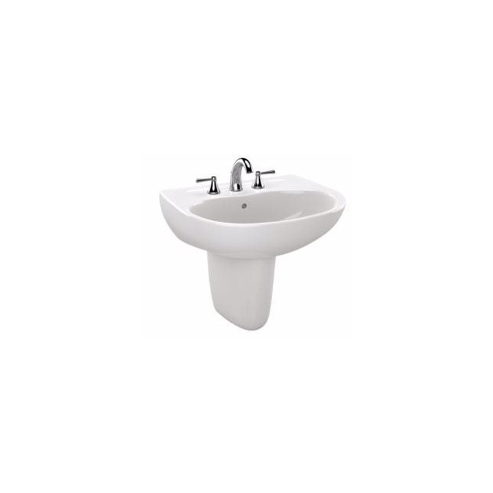 TOTO Supreme 23 in. Wall-Mount Bathroom Sink Combo with 4 in. Faucet ...