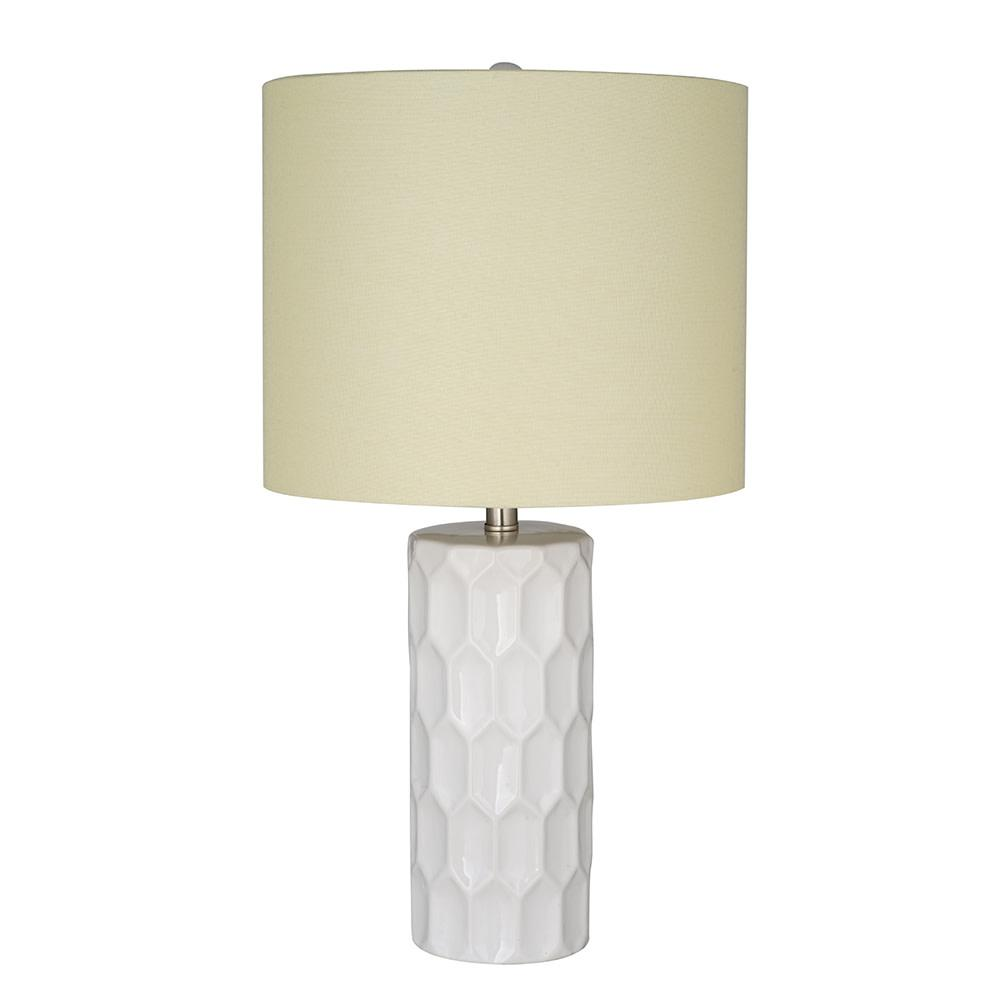 Cresswell 21 in. White Transitional Table Lamp and LED Bulb was $61.28 now $41.79 (32.0% off)