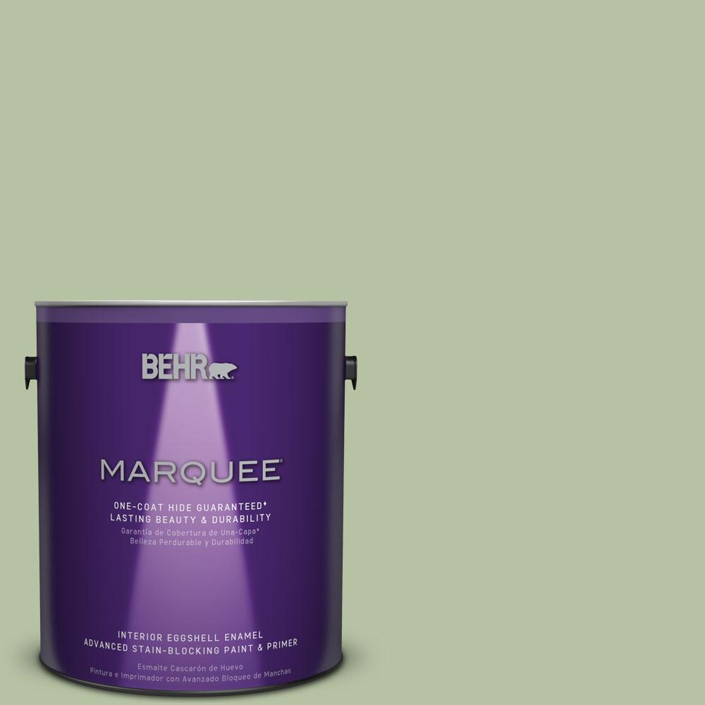 1 gal. #M380-4 Chopped Dill One-Coat Hide Eggshell Enamel Interior Paint