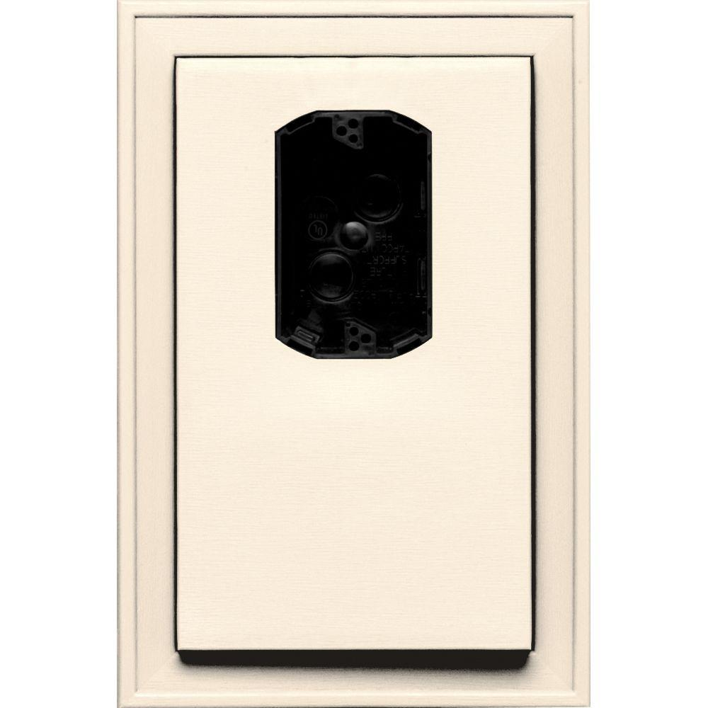 8.125 in. x 12 in. #021 Sandstone Beige Jumbo Electrical Mounting