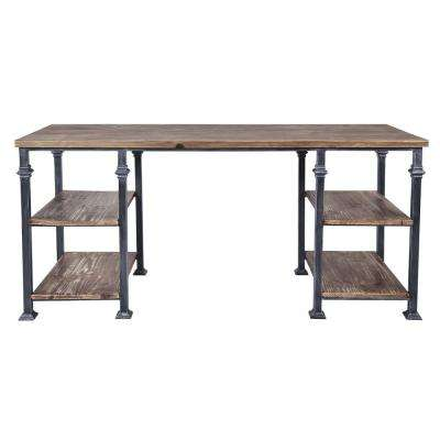 Liam Industrial Grey Desk