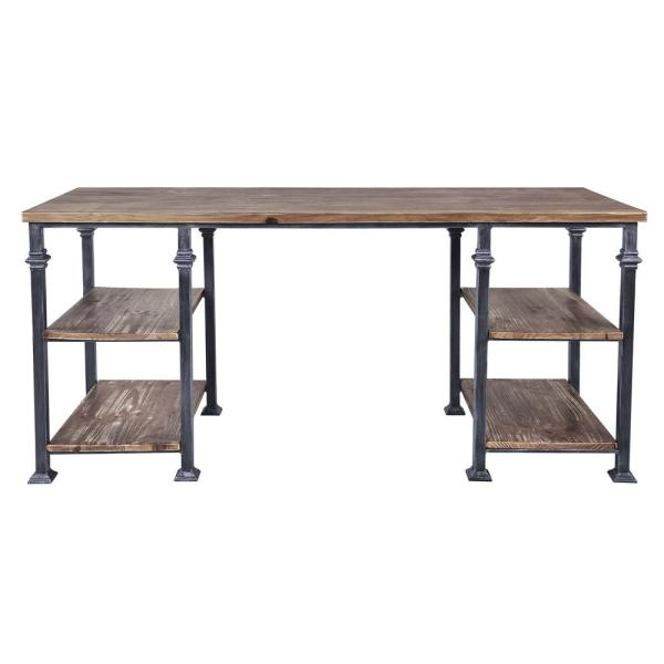 Armen Living Liam Industrial Grey Desk LCLMDESBPI