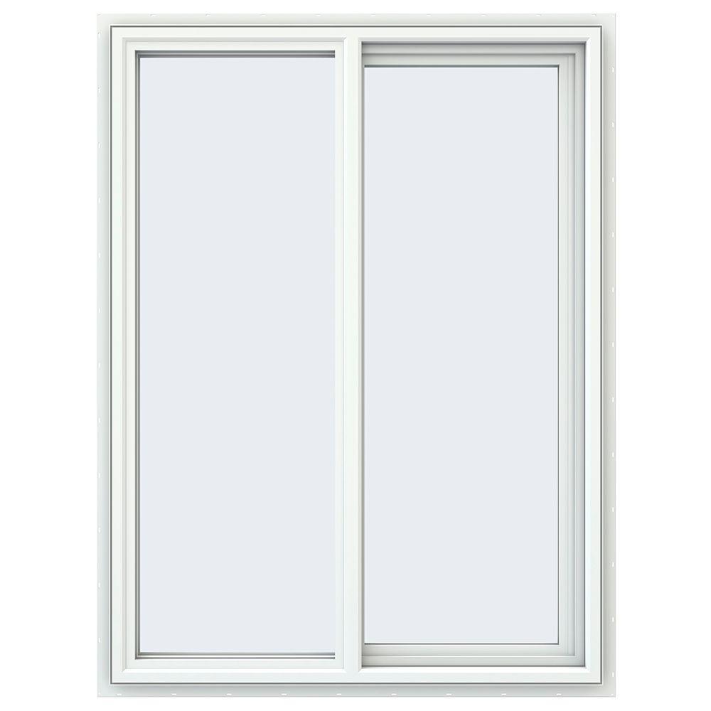 Jeld wen 35 5 in x 47 5 in v 4500 series white vinyl for Right window