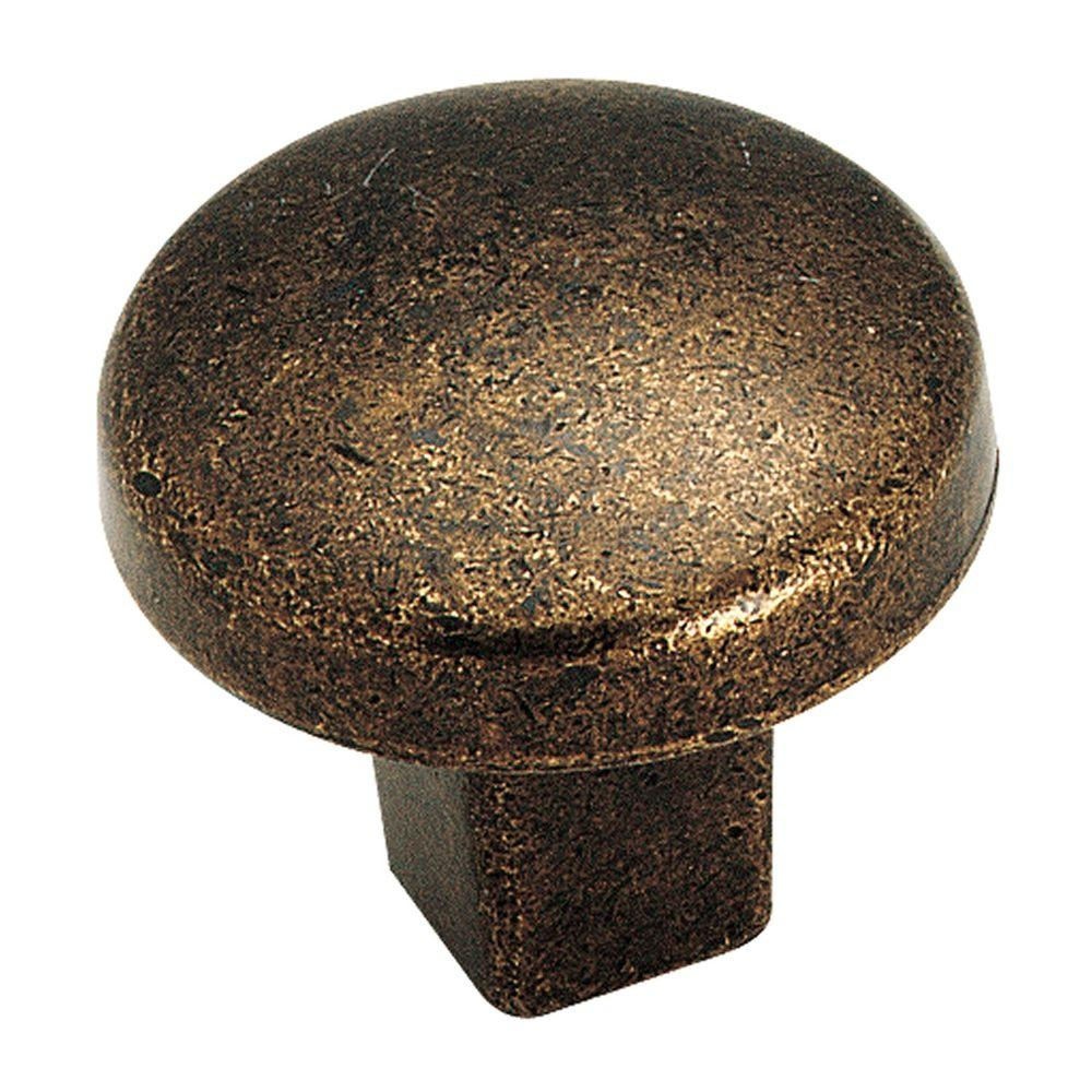 Amerock Forgings 1-1/4 in. Rustic Brass Cabinet Knob