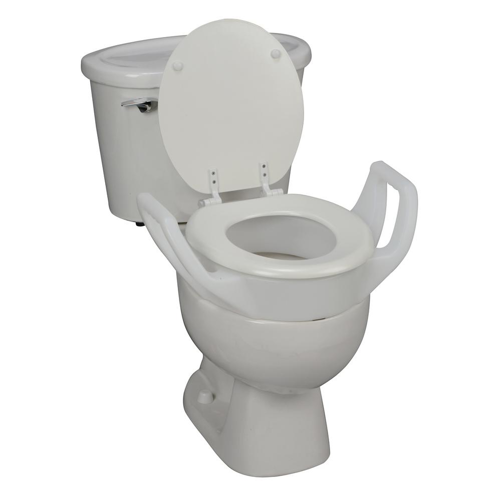 Groovy Dmi Standard Toilet Seat Riser With Arms Alphanode Cool Chair Designs And Ideas Alphanodeonline