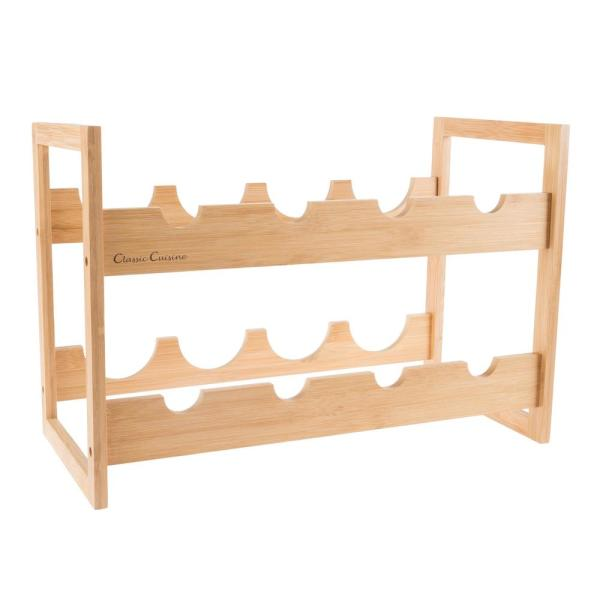 a5ad3875bc Classic Cuisine 8-Bottle Bamboo Wine Rack HW0500007 - The Home Depot