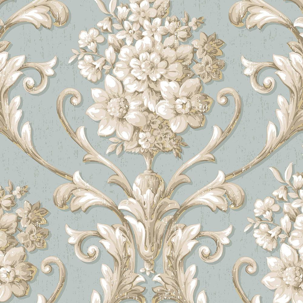 Norwall Floral Damask Wallpaper Cs35621 The Home Depot