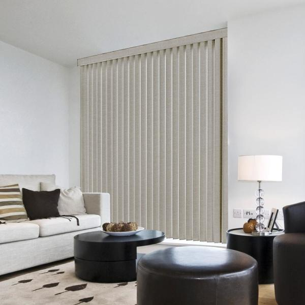 3.5 in. W x 84 in. L Pearl Gray 3.5 in. Vertical Blind/Louver Set (9-pack)