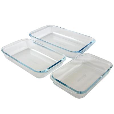 Everyday Casseroles 3-Piece Glass Bakeware Set